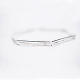 Hexagon Bangles - Set Of 3 - Sterling Silver