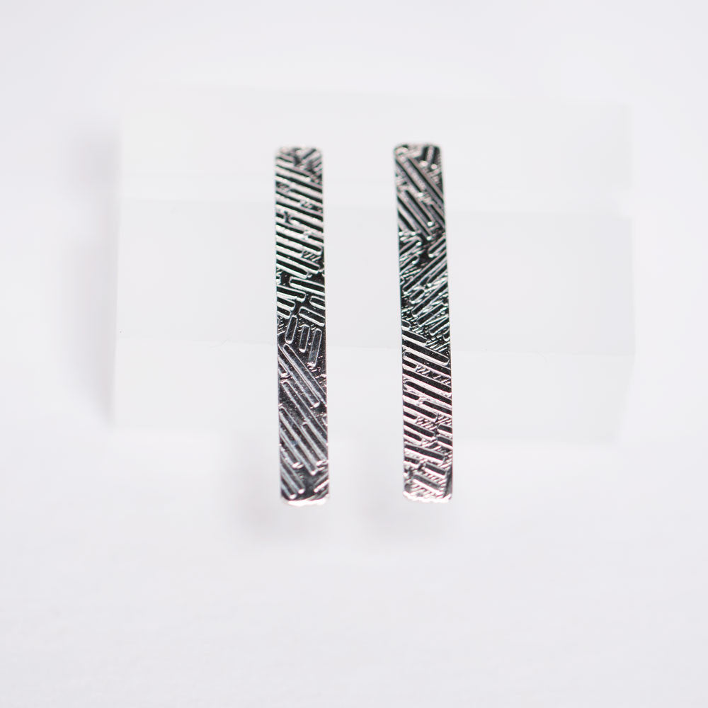 Confetti Drop Earrings - Sterling Silver