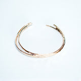 Classic Faceted Cuff Bracelets - Gold-Filled - Set Of Three