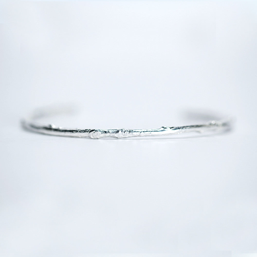 Willow Tree Branch Cuff Bracelet - Sterling Silver