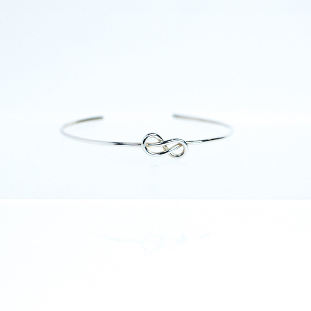 Hand Tied Infinity Knot Cuff - Sterling Silver