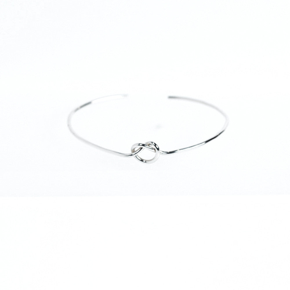 Hand Tied Knot Cuff - Sterling Silver