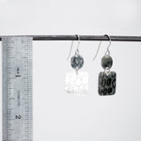 One-Of-A-Kind Double Drop Alligator Pattern Earrings - Sterling Silver