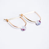 Vintage Amethyst Bead Gold-Filled Earrings