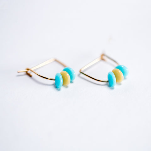 Darling Vintage Bead Earrings - Gold-Filled