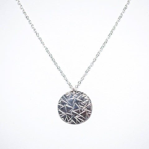Order + Chaos Pendant Necklace - Sterling Silver
