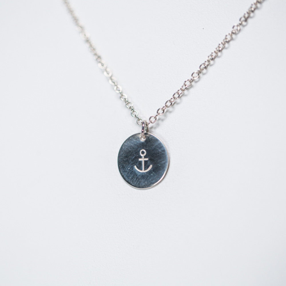 Anchor Pendant Necklace - Sterling Silver