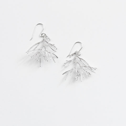 Juniper Coral Drop Earrings - Sterling Silver