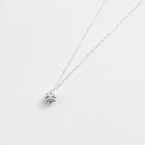 Sweet and Subversive Sterling Silver Spike Ball Pendant Necklace