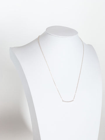 Divine Silver Bar Layering Necklace with Gold Filled Chain