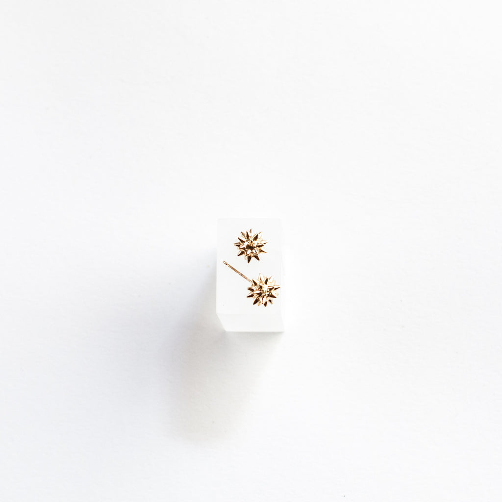 14-karat Gold Plated Spike Stud Earrings