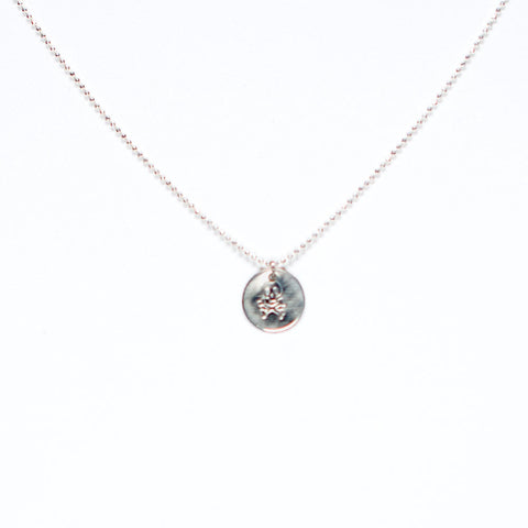 Skull and Crossbones Pendant Necklace - Sterling Silver