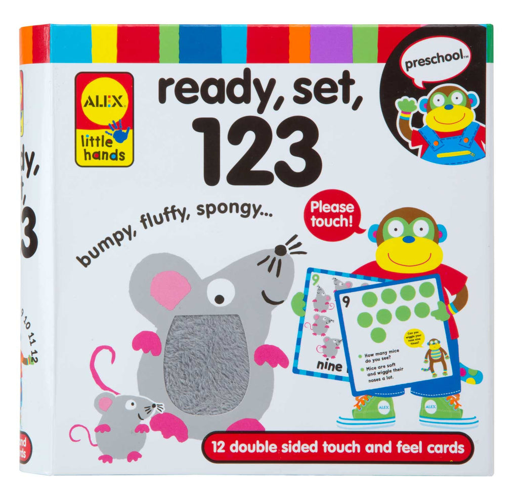 Ready, Set, 123 Touch & Feel Flashcards (multi-sensory) Alex specialneedsessentials