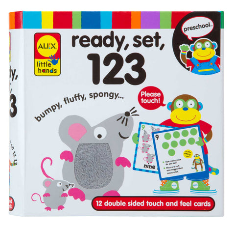 Ready, Set, 123 Touch & Feel Flashcards (multi-sensory) Alex Special Needs Essentials