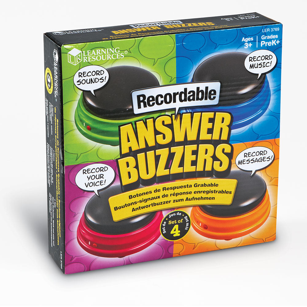 Recordable Answer Buzzers, Set Of 4 Learning Resources specialneedsessentials