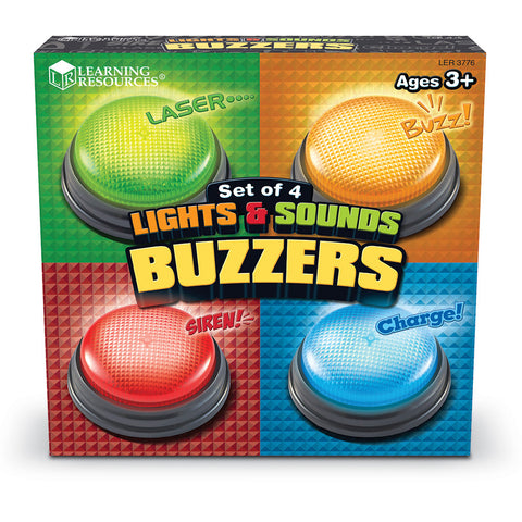 Lights & Sounds Buzzers are are a communication toy perfect for any classroom or for a fun family night at home.