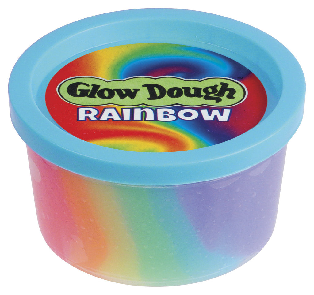 Rainbough Glow Dough Toysmith specialneedsessentials is a great addition for therapy tools and sensory break box.