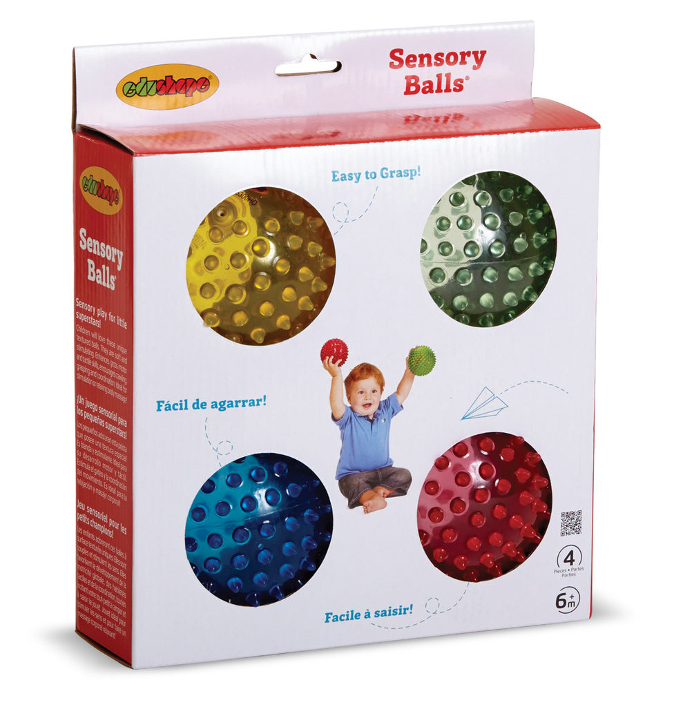 See-Me Sensory Ball -Translucent ( 4 pieces) by Edushape Edushape specialneedsessentials