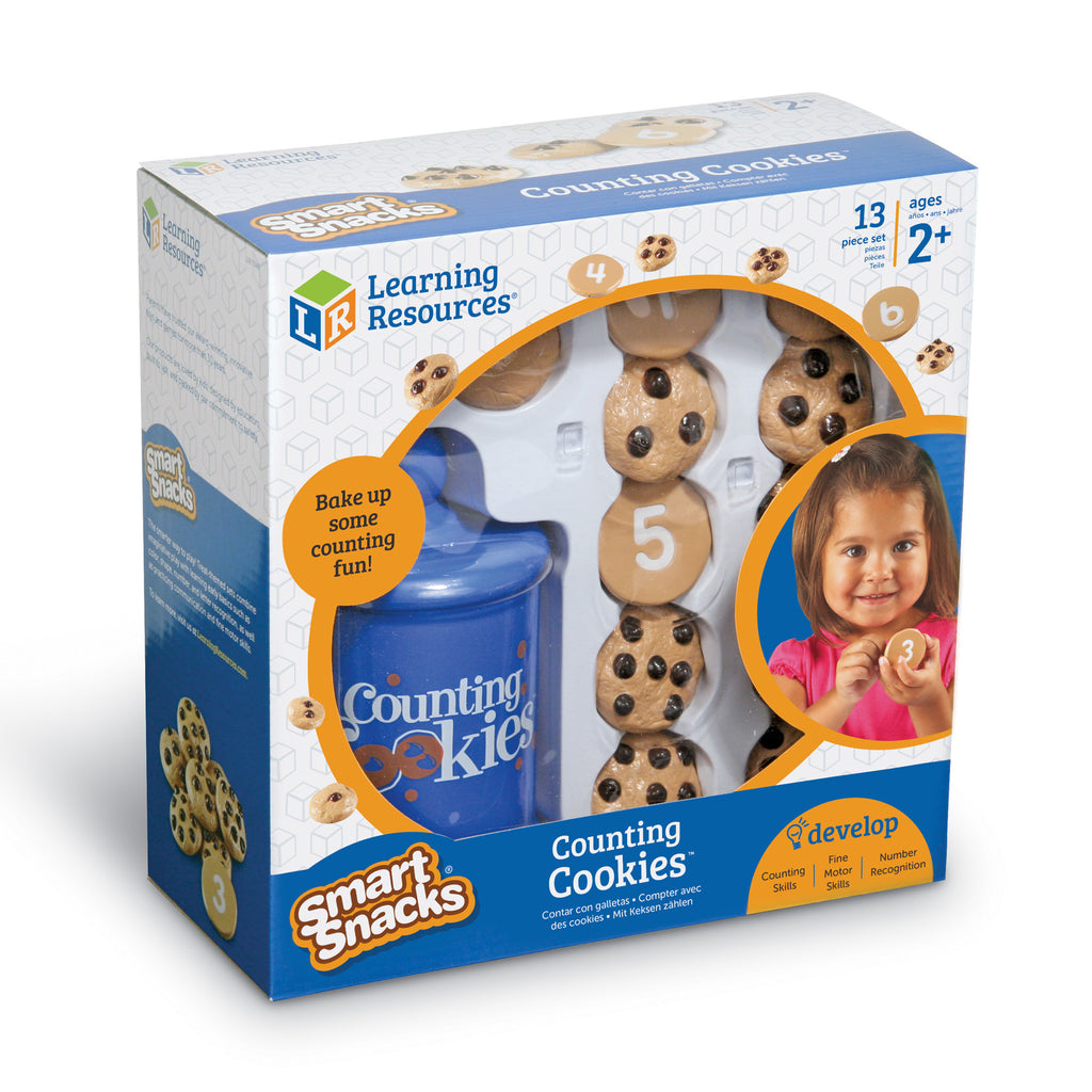 Learning Resources Smart Snacks Counting Cookies are the perfect learning tool for preschoolers. The Counting Cookies promote number recognition and counting skills.