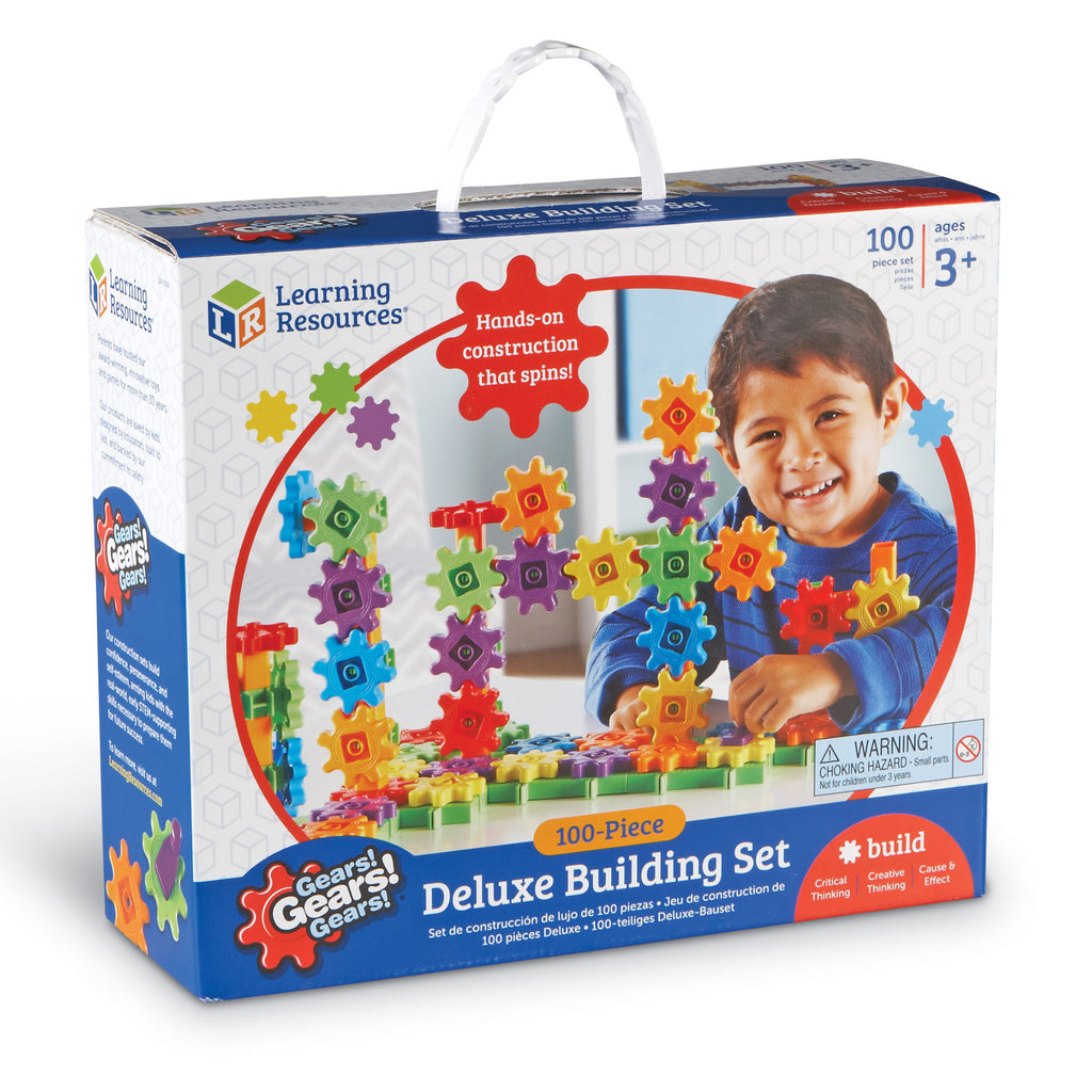 Gears! Gears! Gears! Beginner'S Building Set 100pcs Learning Resources specialneedsessentials