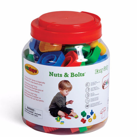 EZ Grip Nuts Bolts - 48 PC Edushape specialneedsessentials