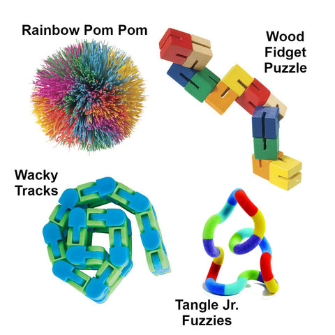 Fidget Sensory Kit (4 pk Bundle) Special Needs Essentials specialneedsessentials