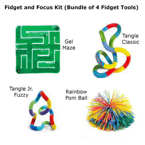 The Fidget and Focus Kit (Bundle of 4 Fidget Tools) Special Needs Essentials Special Needs Essentials