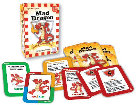 Mad Dragon Anger-Control Card Game Therapy Game HQ specialneedsessentials