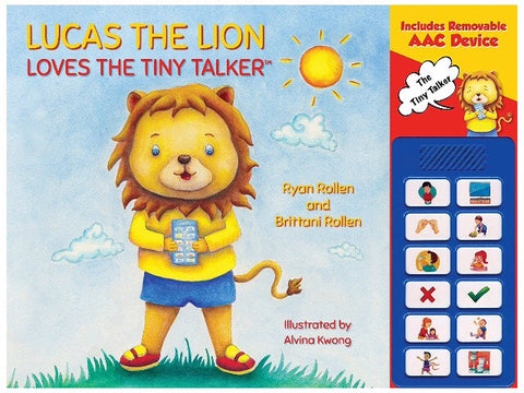 Lucas the Lion Book for Tiny Talker specialneedsessentials