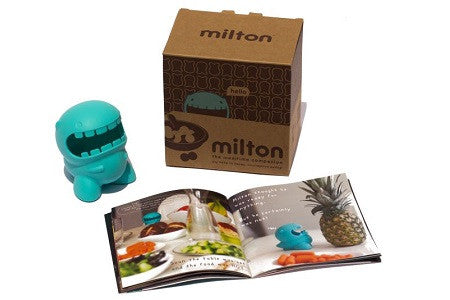Milton the mealtime companion and Meet Milton children's book