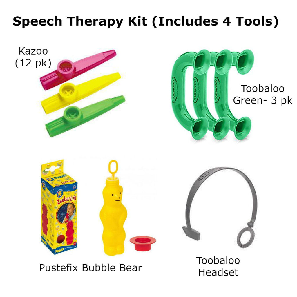 Speech Therapy Kit (Includes 4 Therapy Tools) specialneedsessentials