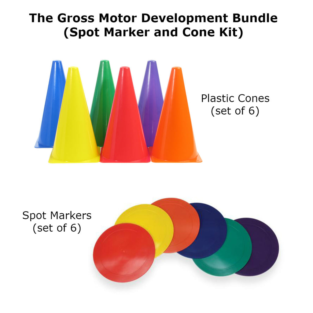 Gross Motor Development Bundle (Spot Markers and Cone Kit) Special Needs Essentials Special Needs Essentials