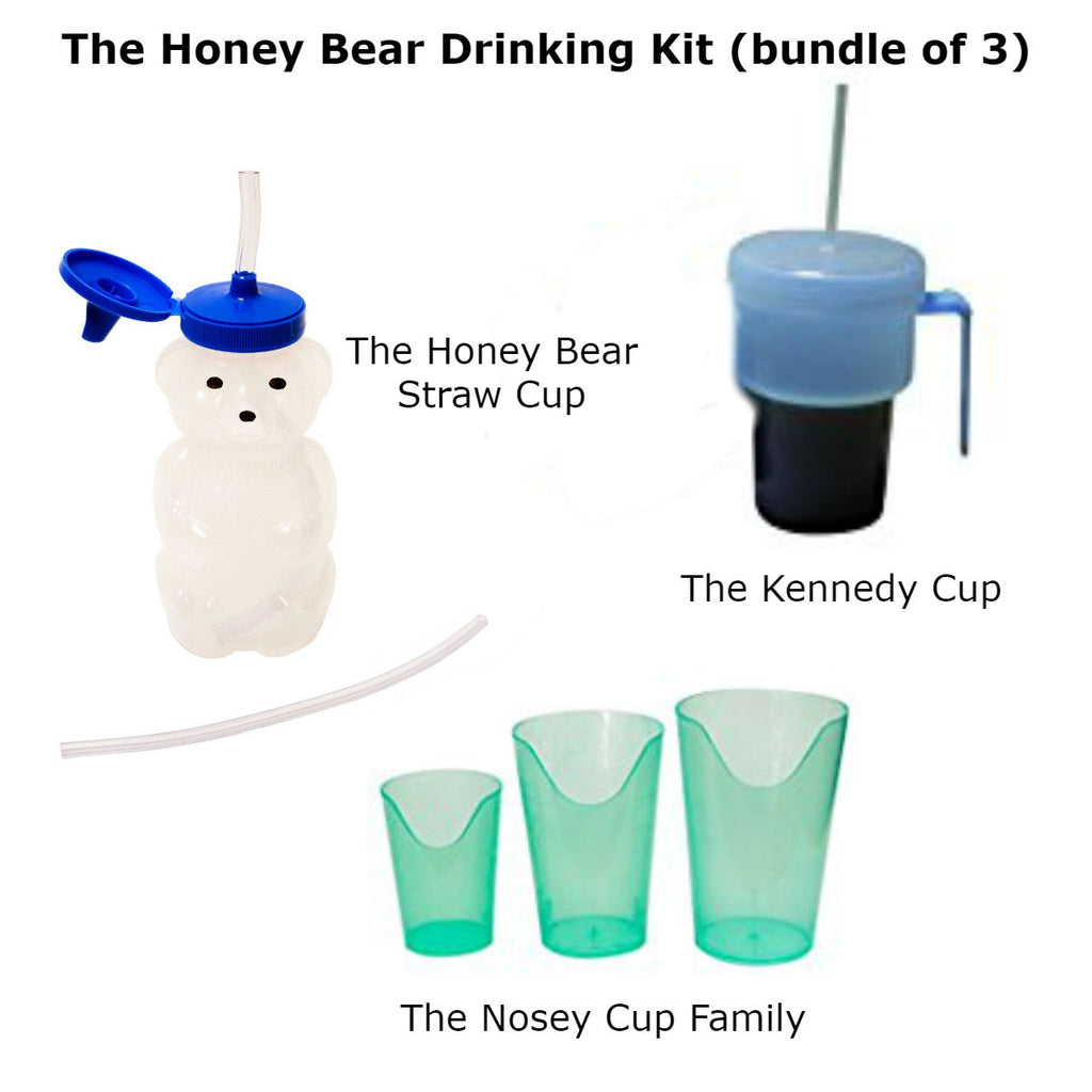 The Honey Bear Drinking Kit (bundle of 3) Special Needs Essentials specialneedsessentials