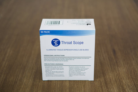 Throat Scope Replacement Blades - Box of 50 Throat Scope Special Needs Essentials