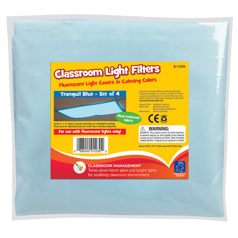 Fluorescent Light Filters (Set of 4) Learning Resources specialneedsessentials