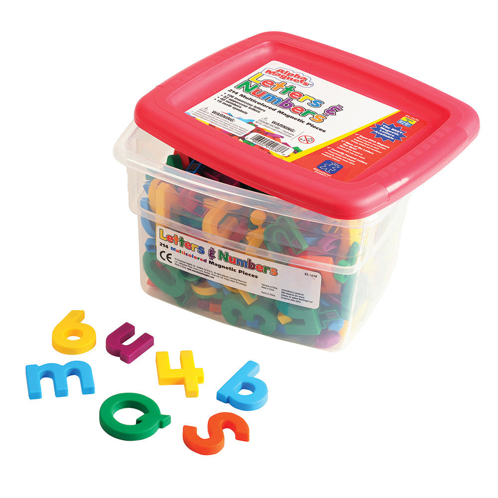 Educational Insights Alphamagnets Multicolored Letter Magnets are learning tools promoting letter identification and letters' shape orientation.