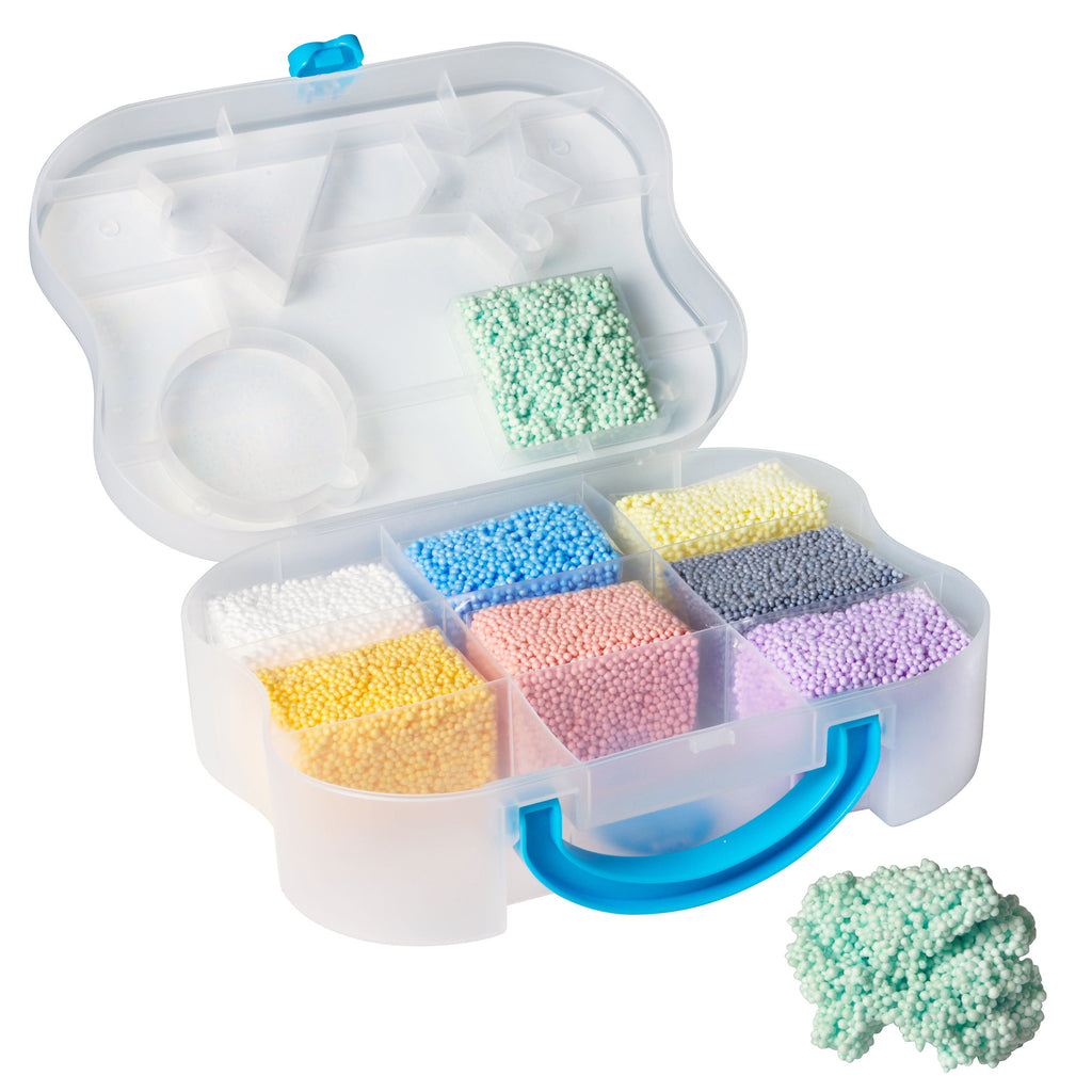 Playfoam Go! is a portable case filled with 9 pods of foam. Great for car trips and traveling!