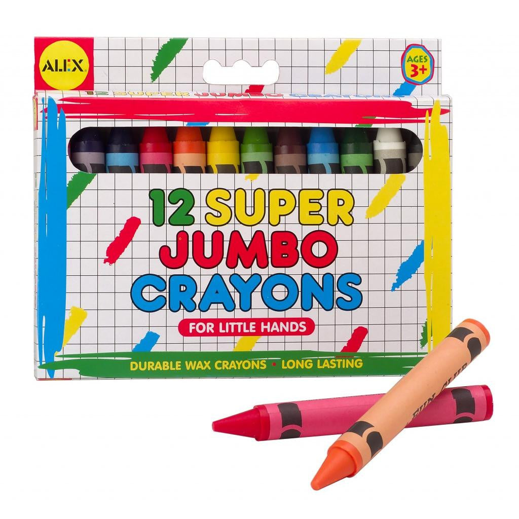 Super Jumbo Crayons are essential to fine motor growth and artistic development. The Jumbo Crayons are easy to hold helping to strengthen hand muscles.