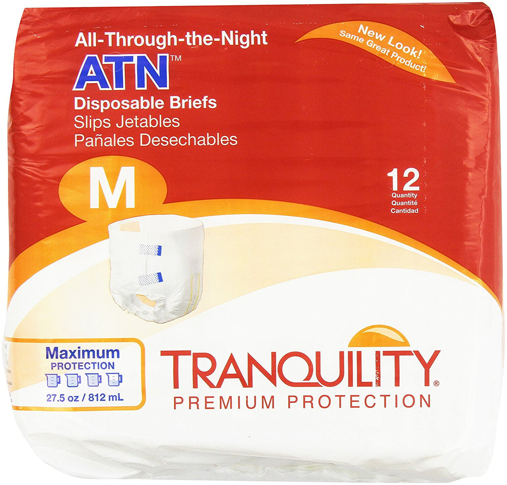 Tranquility's All Through The Nigh Disposable Briefs are a daily living aid providing protection for a good night's sleep
