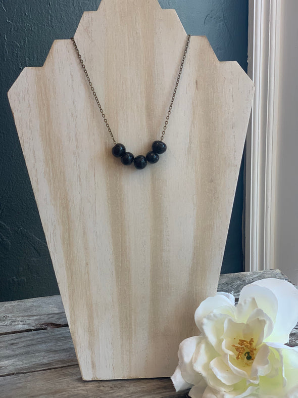Black Poppy Necklace