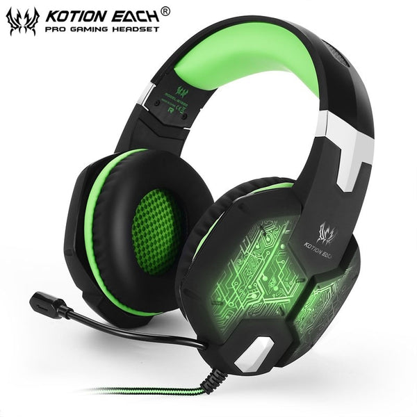 GZ77 Deep Bass Gaming Headset Surround sound with Mic LED Light for PC Games