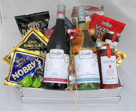 box of treats with alcohol