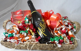 chocolate and sparkling wine