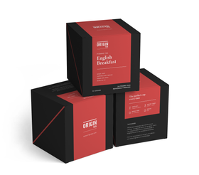 ORIGIN TEA - ENGLISH BREAKFAST - PYRAMID TEA BAGS