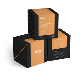 ORIGIN TEA - LEMONGRASS AND GINGER - PYRAMID TEA BAGS