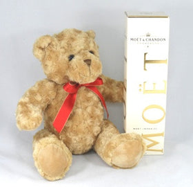 teddy bear with moet