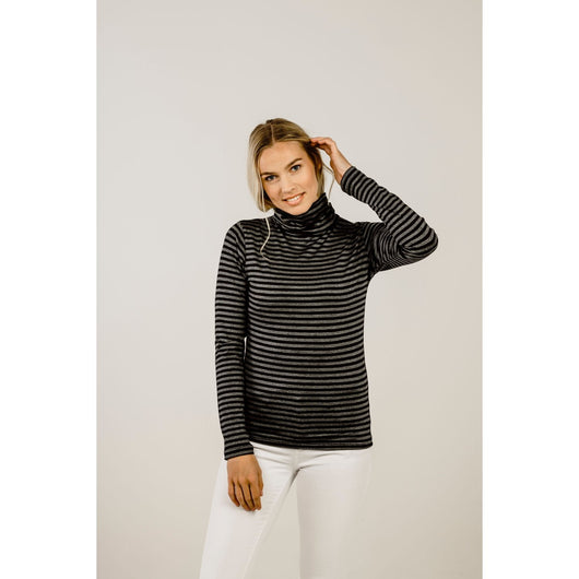 Kapeka Merino Stripe Turtle Neck