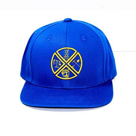 8 AM | SNAPBACK ROYAL BLUE - GOLD STITCHING