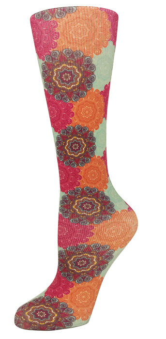 Bohemian Knee High Compression Socks - 10-18mmHg Knit