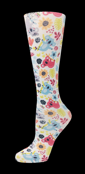 Kuddly Koalas Knee High Compression Socks - 10-18mmHg Knit - Harmony Surgical Designs